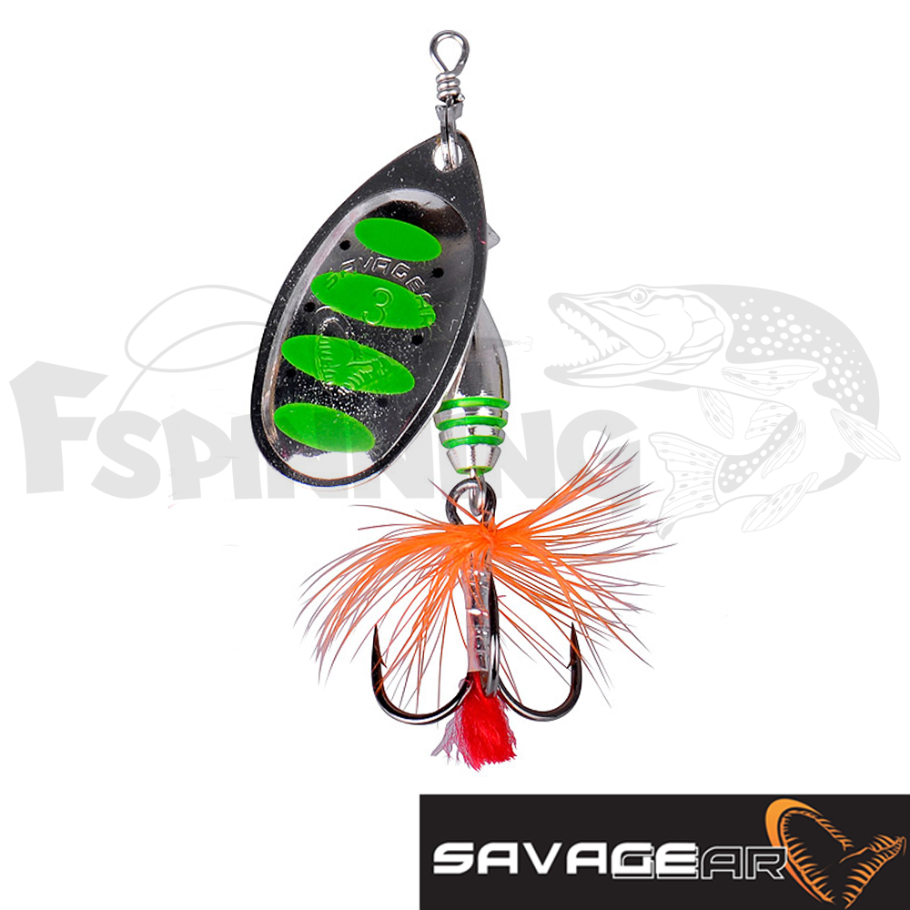 Rotex Spinner 2a 4gr Блесна вертушка Savage Gear Rotex Spinner 2a 4gr #10-Green Highlander