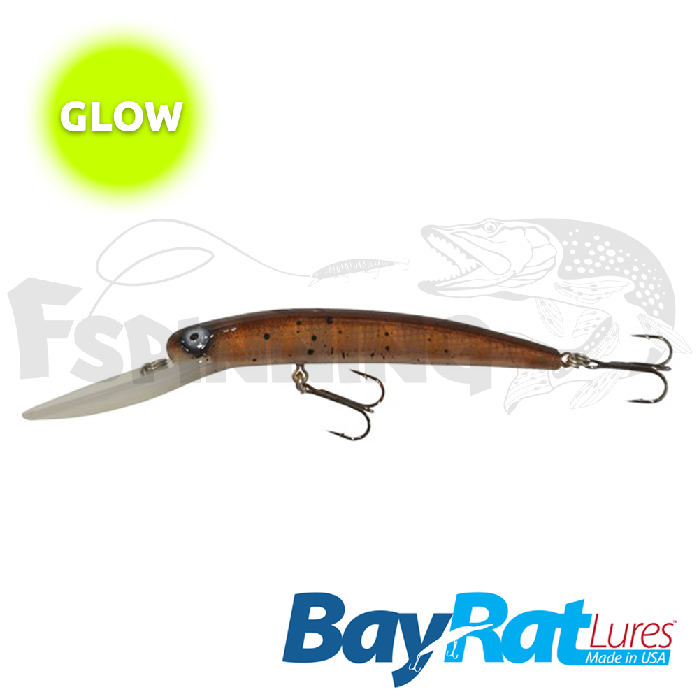 Long Extra Deep 100F Воблер Bay Rat Lures Long Extra Deep 100F 15.8gr #56 glow goby