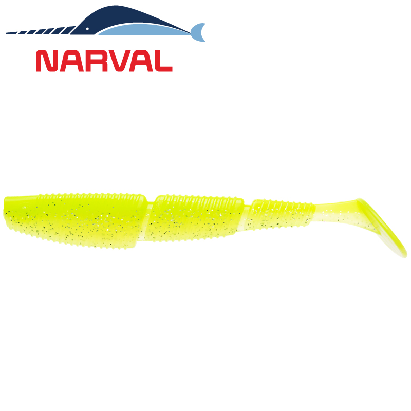 Complex Shad 120mm Мягкие приманки Narval Complex Shad 12sm #004 Lime Chartreuse (4 шт в уп)