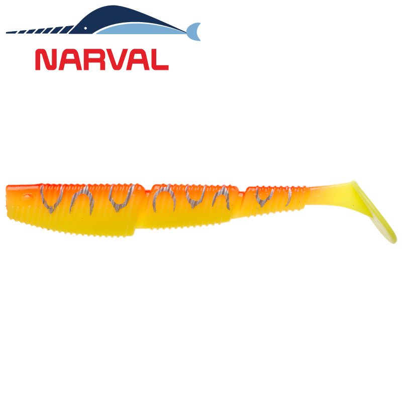 Complex Shad 100mm Мягкие приманки Narval Complex Shad 10sm #009 Sunset Tiger (4 шт в уп)