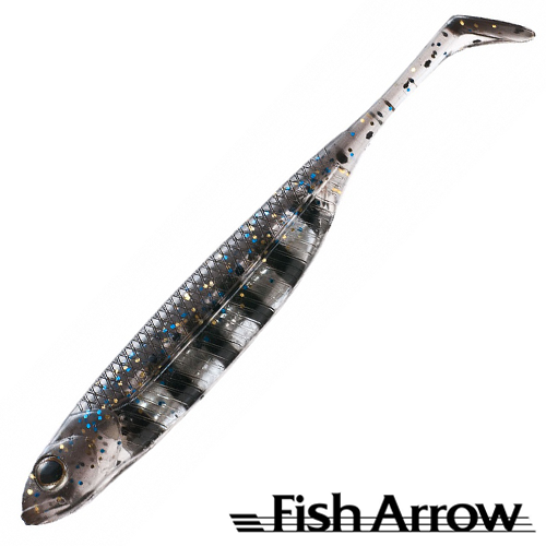 Flash J Shad 4'' Мягкие приманки Fish Arrow Flash J Shad 4'' #23 Live Gill/Silver (6 шт в уп)