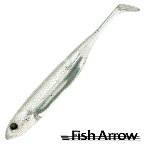 Flash J Shad 4'' Мягкие приманки Fish Arrow Flash J Shad 4'' #21 White Silver (6 шт в уп)