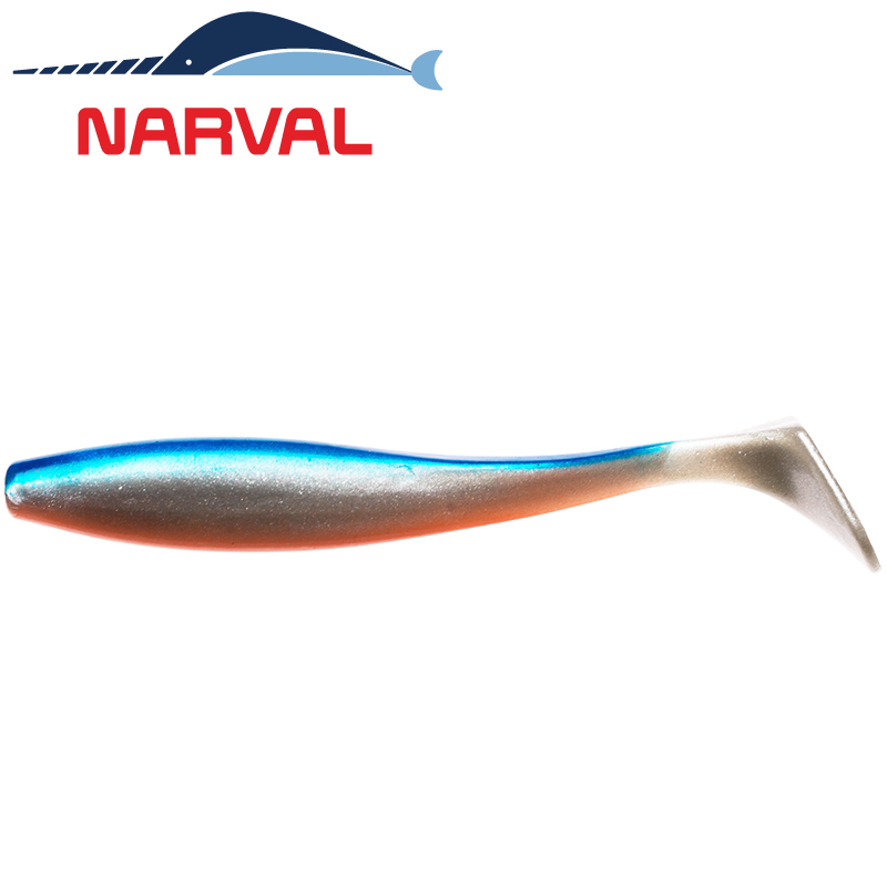 Choppy Tail 80mm Мягкие приманки Narval Choppy Tail 8sm #001 Blue Back Shiner (6 шт в уп)