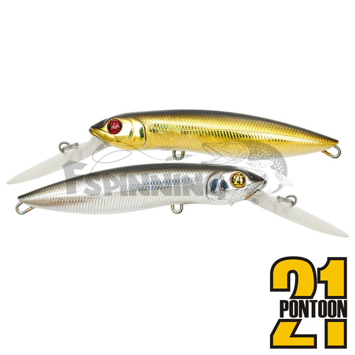 Воблер Pontoon21 Moby Dick 120F-DR 31,8gr #222Doublet