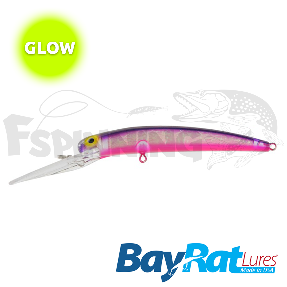 Long Extra Deep 100F Воблер Bay Rat Lures Long Extra Deep 100F 15.8gr #41 purple wish