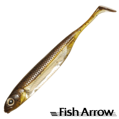 Flash J Shad 4'' Мягкие приманки Fish Arrow Flash J Shad 4'' #01 GP/Silver (6 шт в уп)