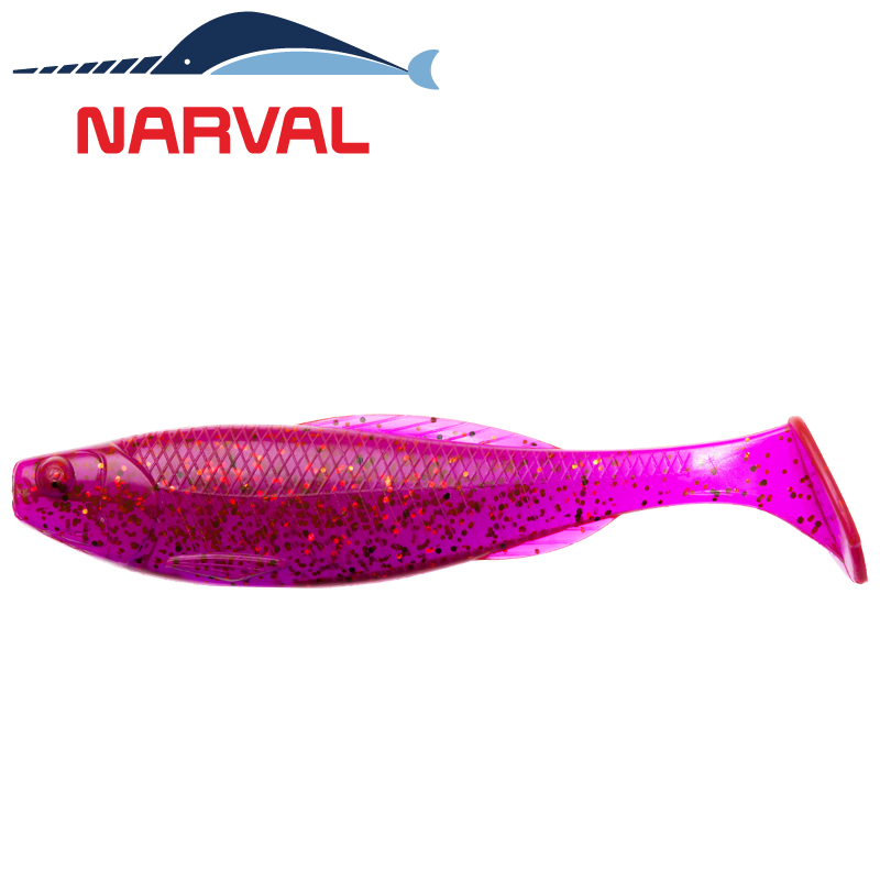 Troublemaker 120mm Мягкие приманки Narval Troublemaker 12sm #003 Grape Violet (4 шт в уп)