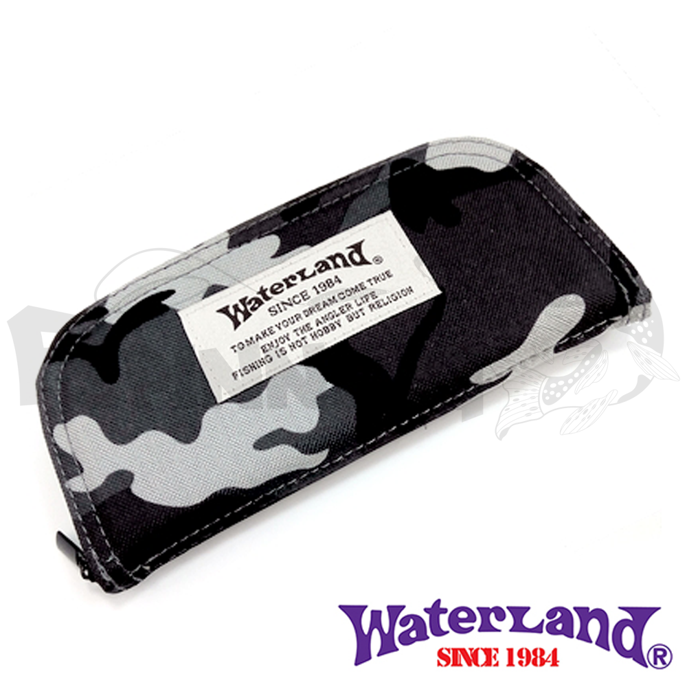 Waterland Кошелек для блесен Waterland Spoon Wallet #M gray camo