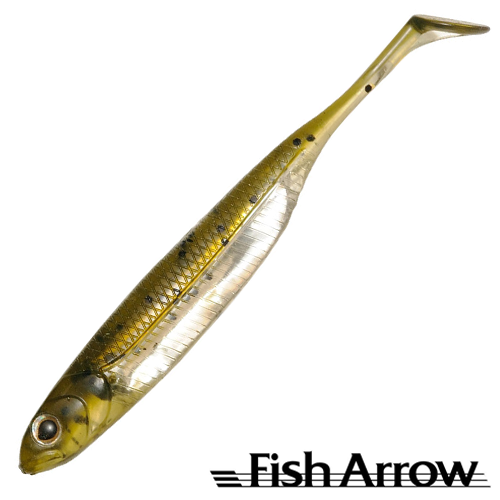 Flash J Shad 4'' Мягкие приманки Fish Arrow Flash J Shad 4'' #02 WM/Silver (6 шт в уп)