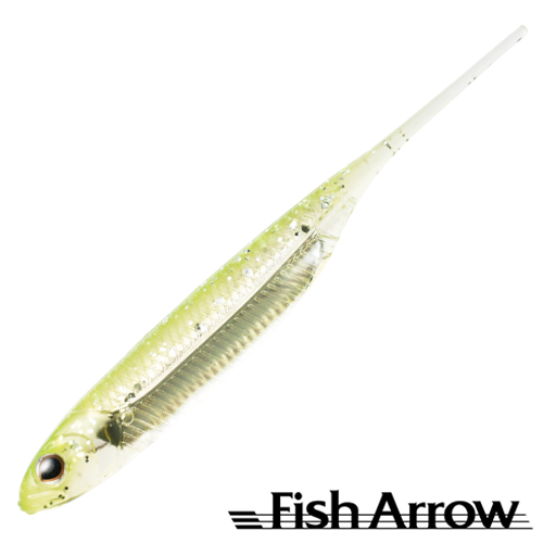 Мягкие приманки Fish Arrow Flash J 3'' SW #102 Chart/Silver (5 шт в уп)