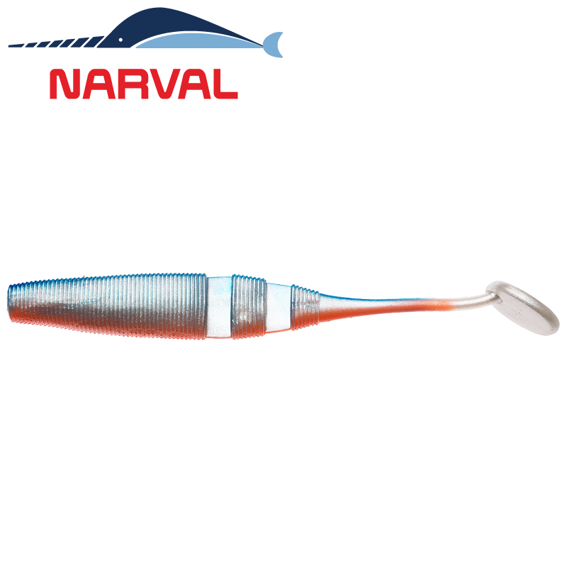 Loopy Shad 120mm Мягкие приманки Narval Loopy Shad 12sm #001 Blue Back Shiner (4 шт в уп)