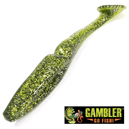 Big EZ Мягкие приманки Gambler Big EZ 5'' #Melon Shad (5 шт в уп)