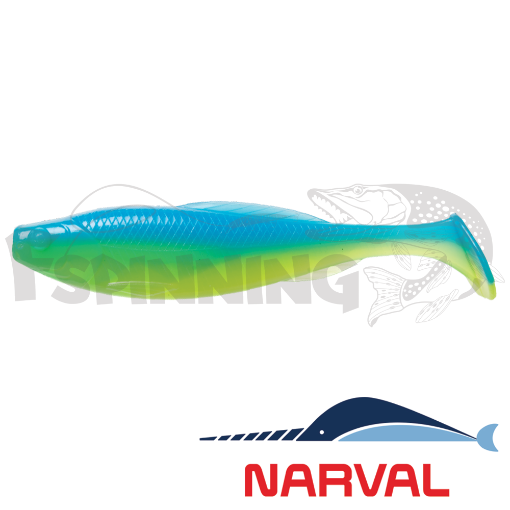 Troublemaker 100mm Мягкие приманки Narval Troublemaker 10sm #016 Blue Mint (5 шт в уп)