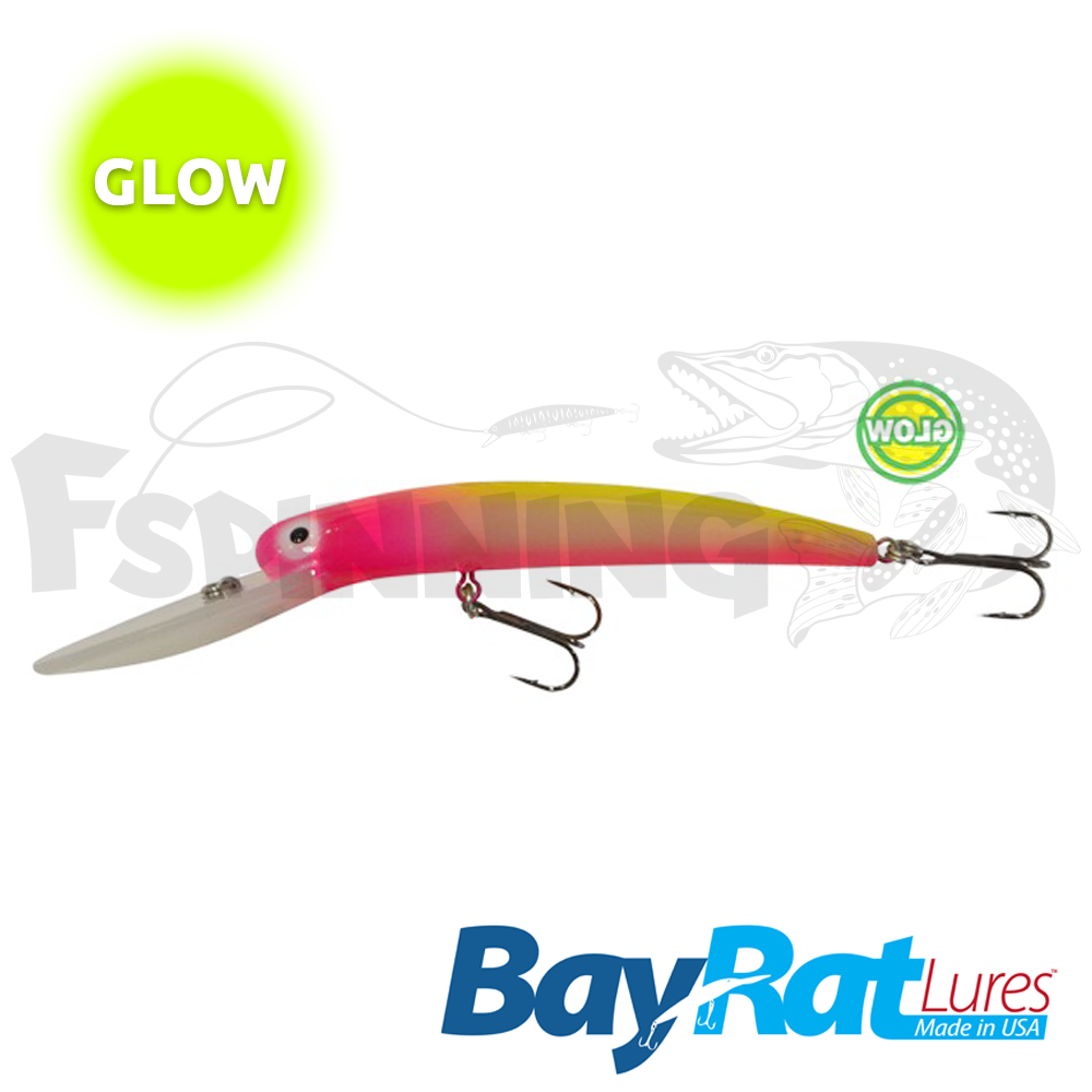 Long Extra Deep 100F Воблер Bay Rat Lures Long Extra Deep 100F 15.8gr #58 glow pink lemonade