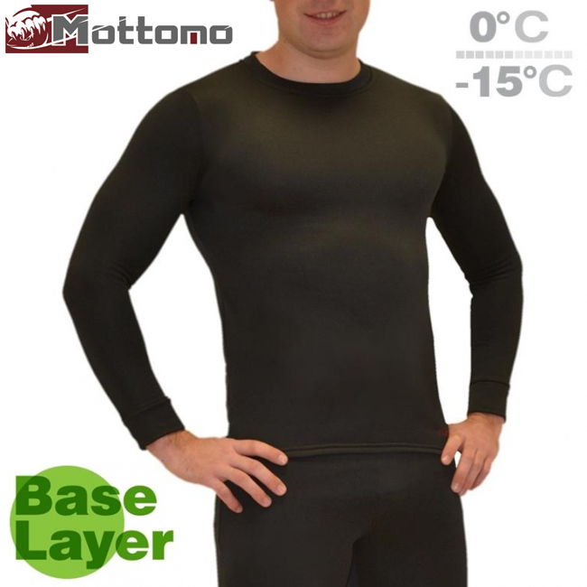 Base Layer Фуфайка Mottomo Base Layer L #черный