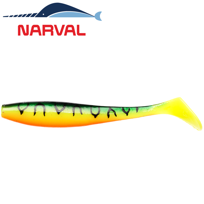 Choppy Tail 100mm Мягкие приманки Narval Choppy Tail 10sm #006 Mat Tiger (5 шт в уп)
