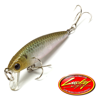 Воблер Lucky Craft Bevy Minnow 45SP 2,7gr #238 Ghost Minnow
