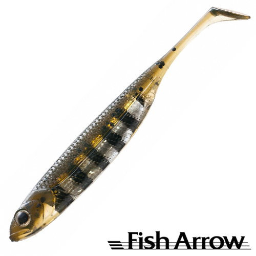 Flash J Shad 4'' Мягкие приманки Fish Arrow Flash J Shad 4'' #24 Live Mogill/Silver (6 шт в уп)