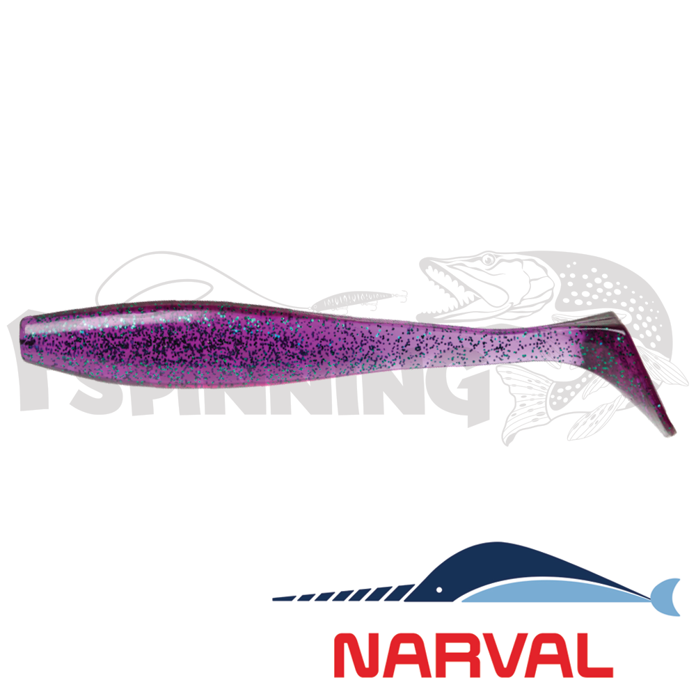 Choppy Tail 120mm Мягкие приманки Narval Choppy Tail 12sm #017 Violetta (4 шт в уп)
