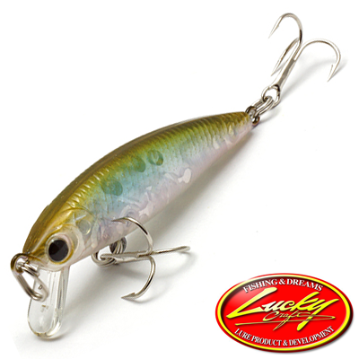 Воблер Lucky Craft Bevy Minnow 45SP 2,7gr #0003 Wakasagi 053