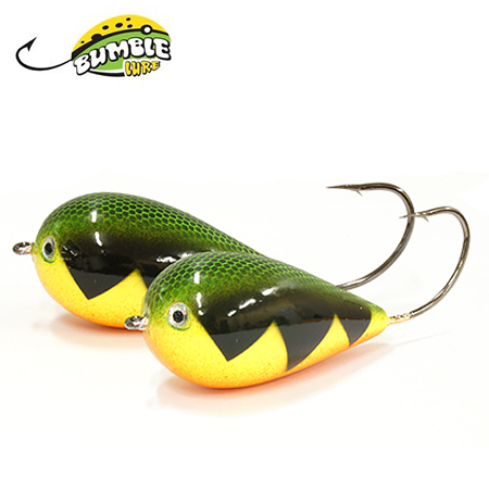 Глиссер Bumble Lure Killer Popper KP-15PFT Perch Fire Tiger 15гр