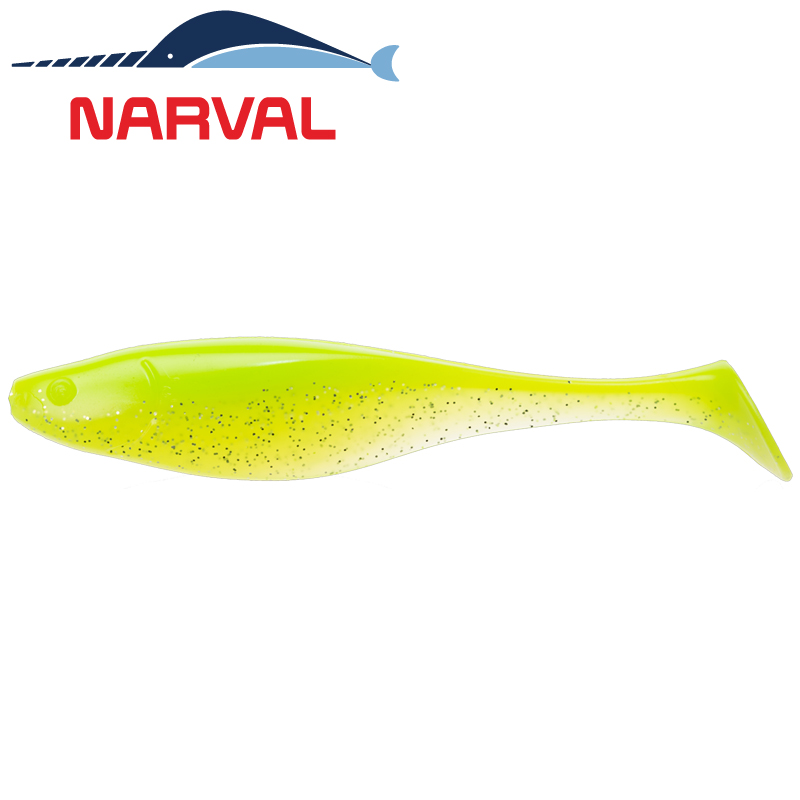 Commander Shad 12sm Мягкие приманки Narval Commander Shad 12sm #004 Lime Chartreuse (4 шт в уп)