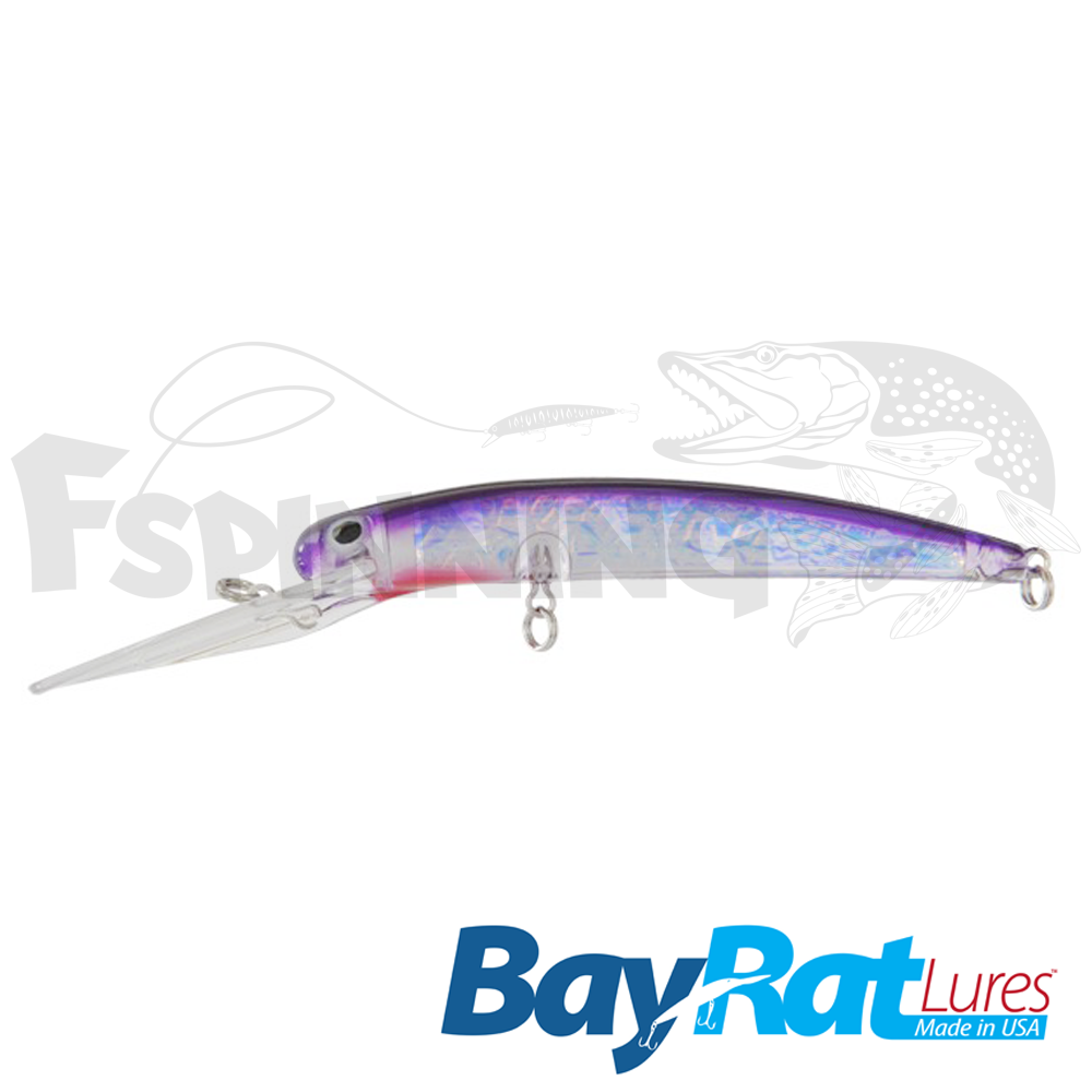 Long Extra Deep 100F Воблер Bay Rat Lures Long Extra Deep 100F 15.8gr #39 purple flash