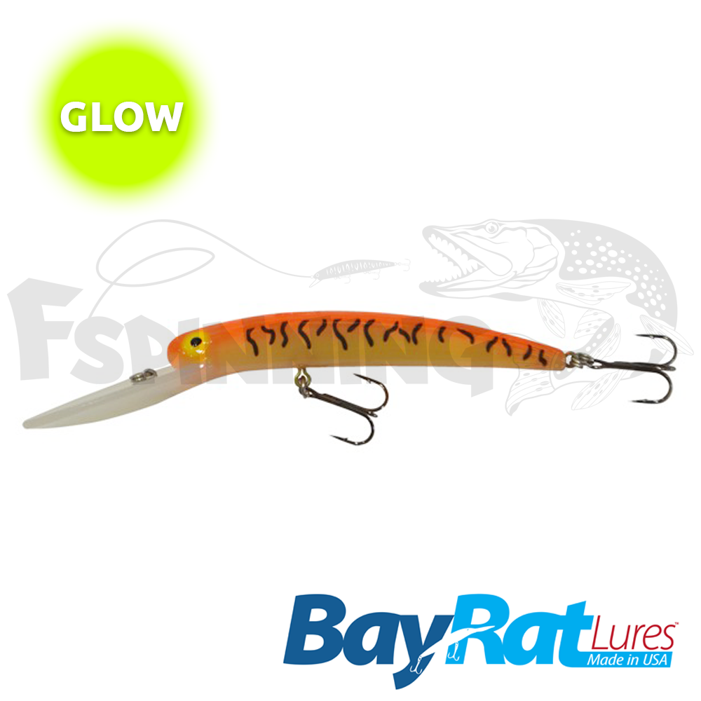 Long Extra Deep 100F Воблер Bay Rat Lures Long Extra Deep 100F 15.8gr #57 glow orange peel
