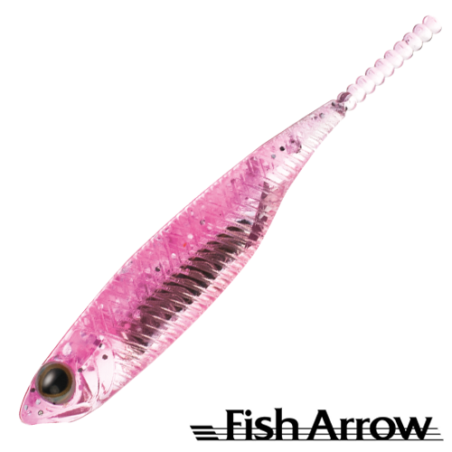 Мягкие приманки Fish Arrow Flash J 1'' SW #101 Pink/Silver (5 шт в уп)