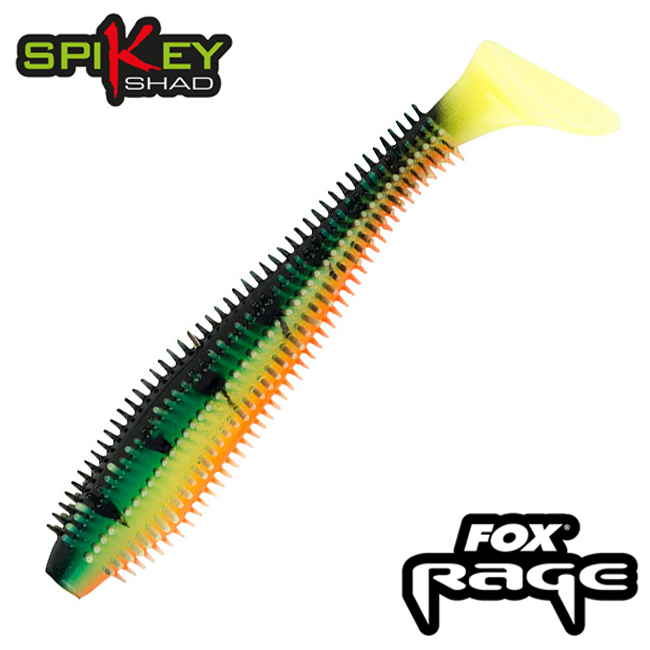Rage Spikey Shad 2,75''/60mm Мягкие приманки Fox Rage Spikey Shad 2,75''/60mm #Firetiger (5шт в уп)