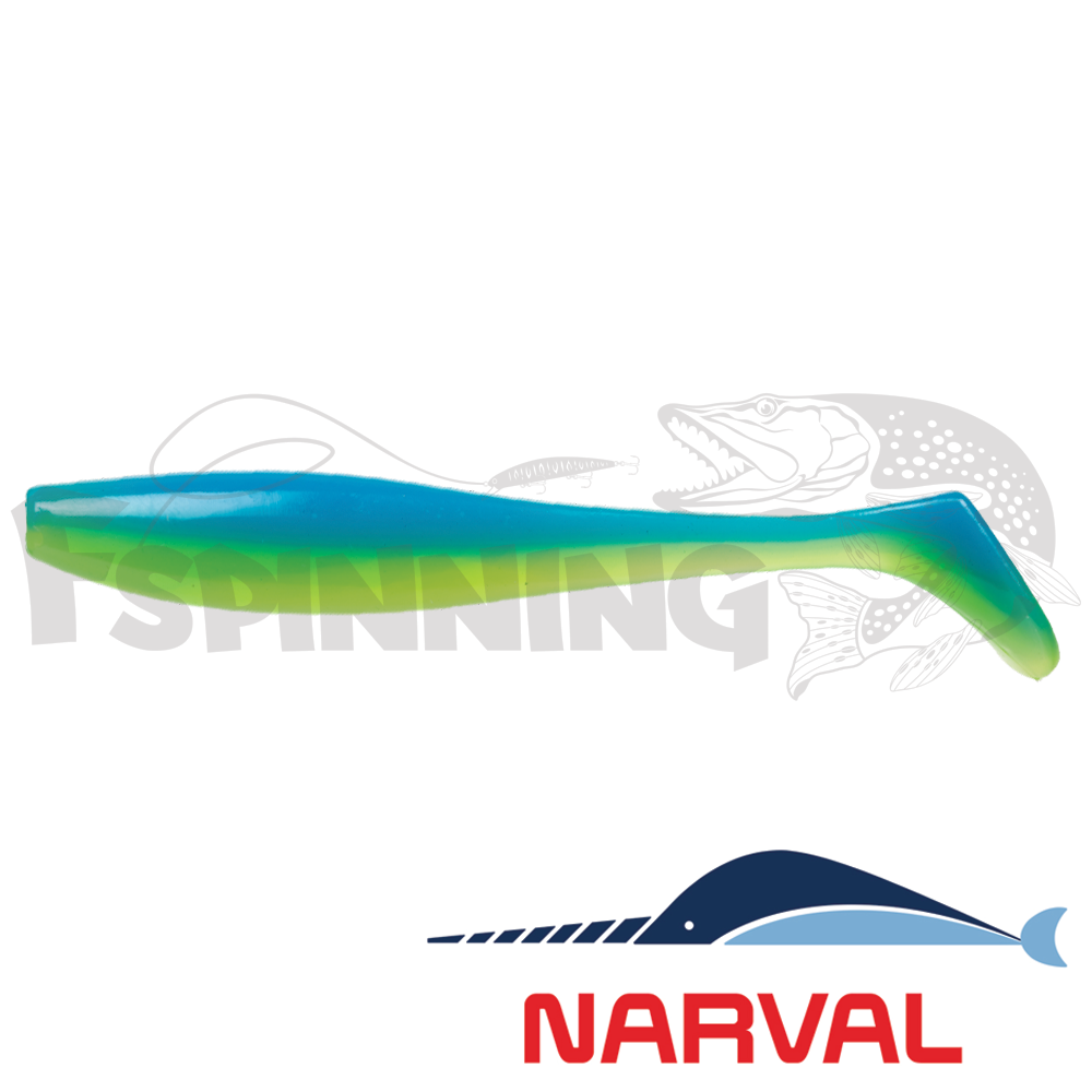 Choppy Tail 100mm Мягкие приманки Narval Choppy Tail 10sm #016 Blue Mint (5 шт в уп)
