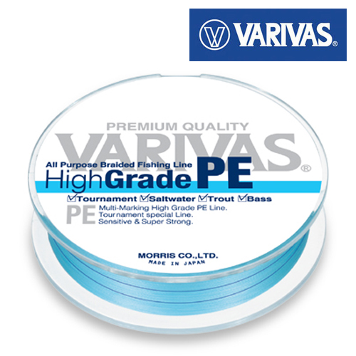 Шнур Varivas High Grade Premium PE Blue 150m #0,6 0,128mm/4,2kg