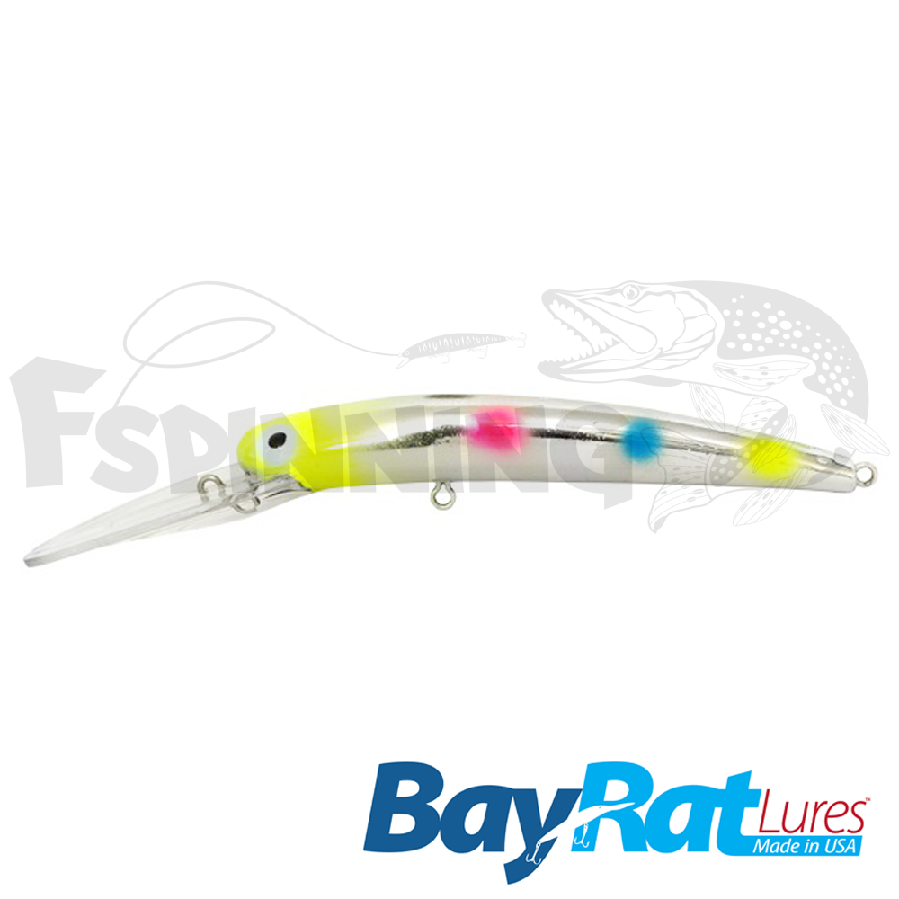 Long Extra Deep 100F Воблер Bay Rat Lures Long Extra Deep 100F 15.8gr #54 yellow wonderbread chrome
