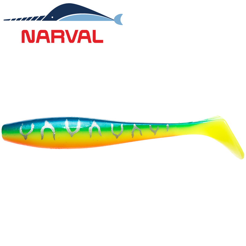 Choppy Tail 80mm Мягкие приманки Narval Choppy Tail 8sm #002 Blue Back Tiger (6 шт в уп)