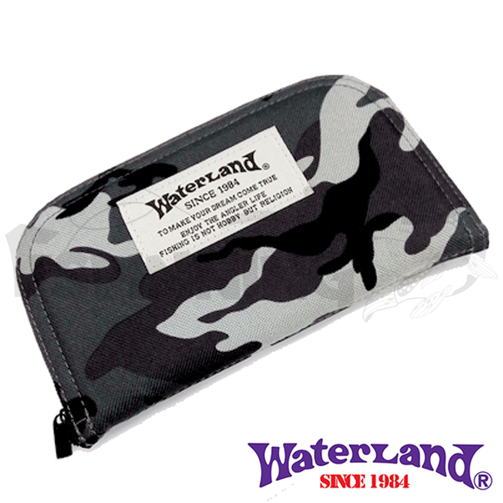 Waterland Кошелек для блесен Waterland Spoon Wallet #L gray camo