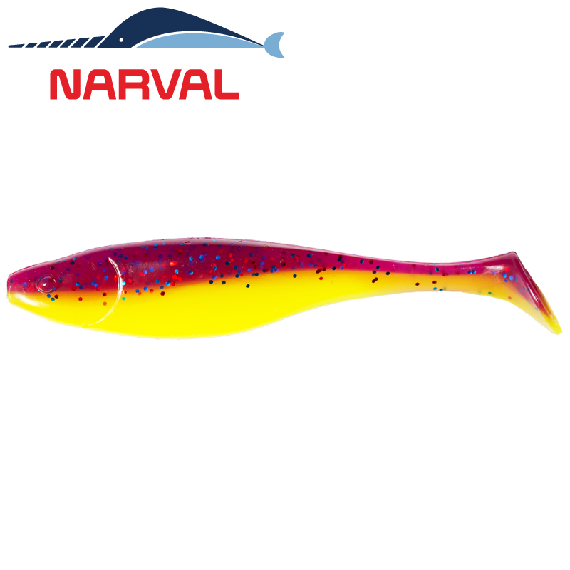 Commander Shad 140mm Мягкие приманки Narval Commander Shad 14sm #007 Purple Spring (3 шт в уп)
