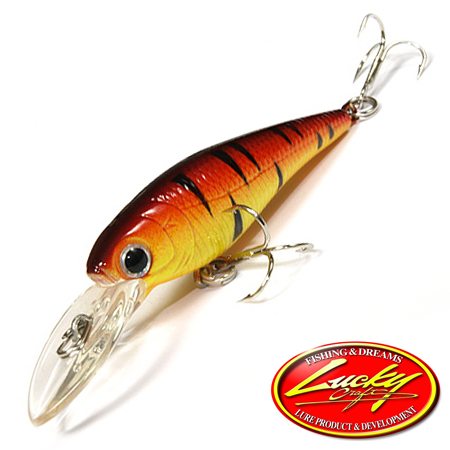 Воблер Lucky Craft Bevy Shad 50F 3,2gr #0289 Fire Tiger 194