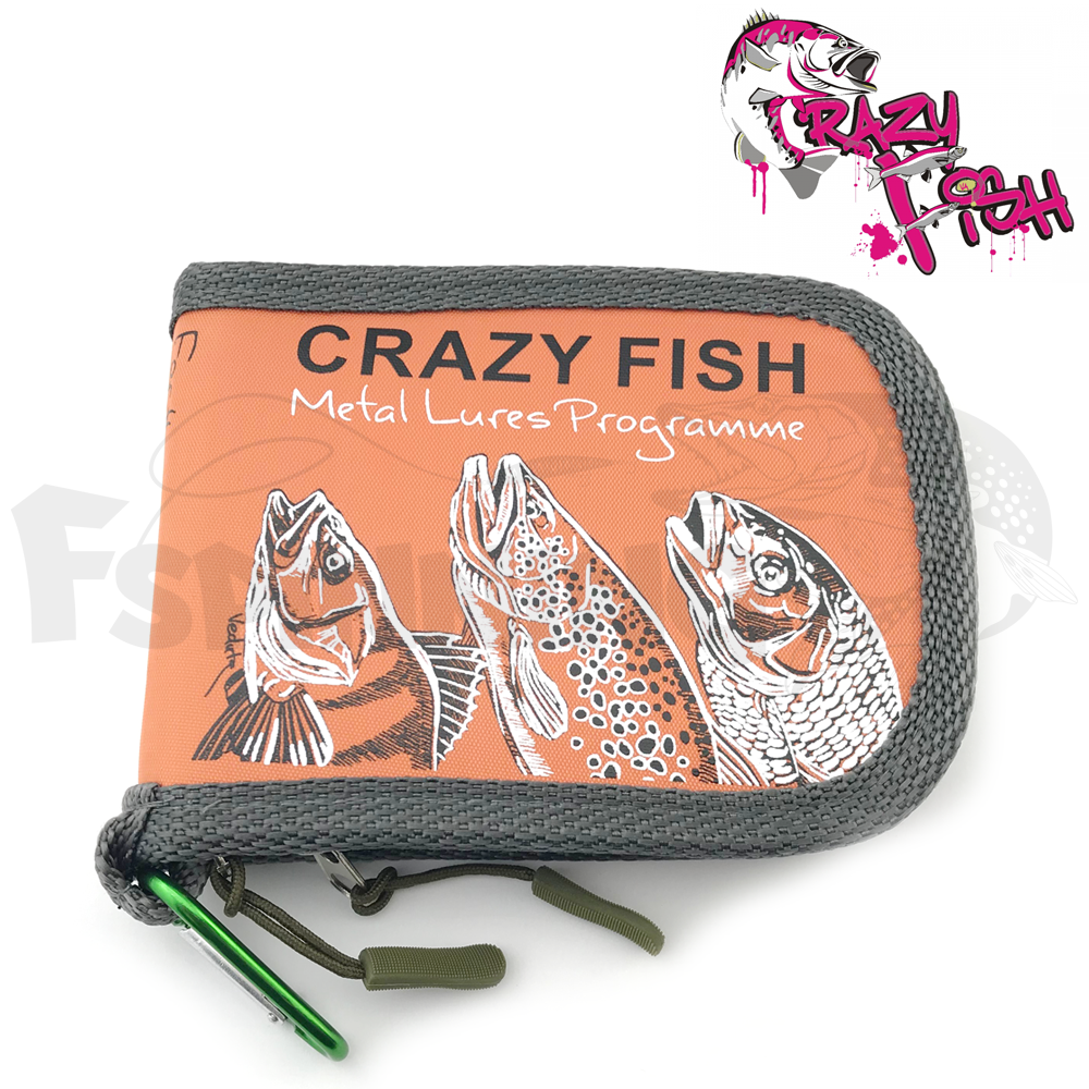 Crazy Fish Кошелек для блесен Crazy Fish Spoon Case Small #orange 13x10x3sm