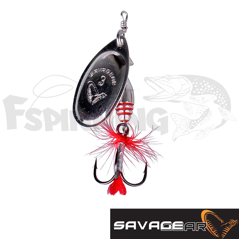 Rotex Spinner 2a 4gr Блесна вертушка Savage Gear Rotex Spinner 2a 4gr #07-Matt Silver