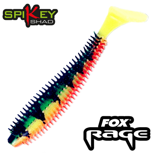 Rage Spikey Shad 3,5''/90mm Мягкие приманки Fox Rage Spikey Shad Bulk 3,5''/90mm #firetiger (1 шт в уп)