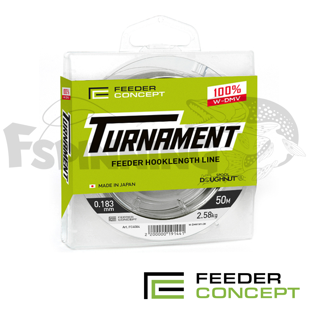 Feeder Concept Turnament 50m Леска Feeder Concept Turnament 50m/0.083mm/0.53kg (прозрачный)