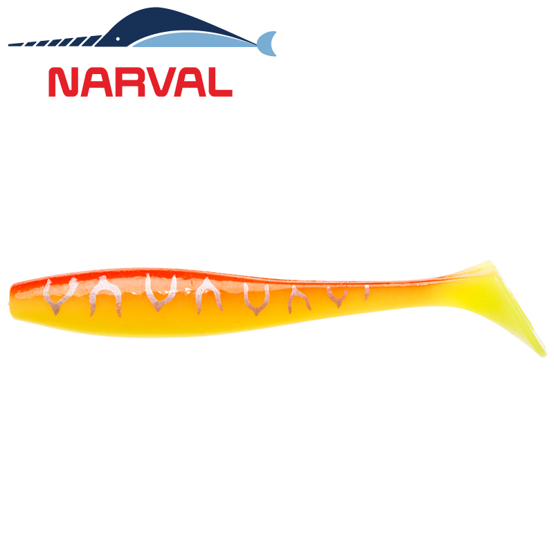 Choppy Tail 100mm Мягкие приманки Narval Choppy Tail 10sm #009 Sunset Tiger (5 шт в уп)