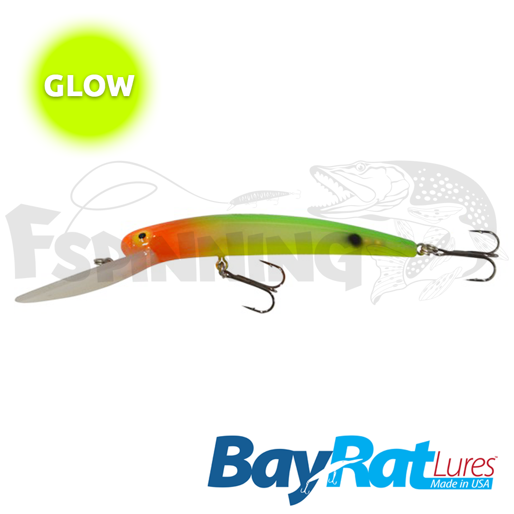 Long Extra Deep 100F Воблер Bay Rat Lures Long Extra Deep 100F 15.8gr #59 glow veggies