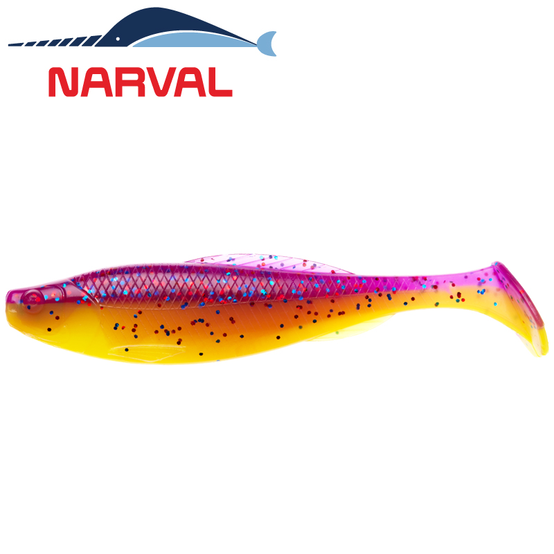 Troublemaker 120mm Мягкие приманки Narval Troublemaker 12sm #007 Purple Spring (4 шт в уп)
