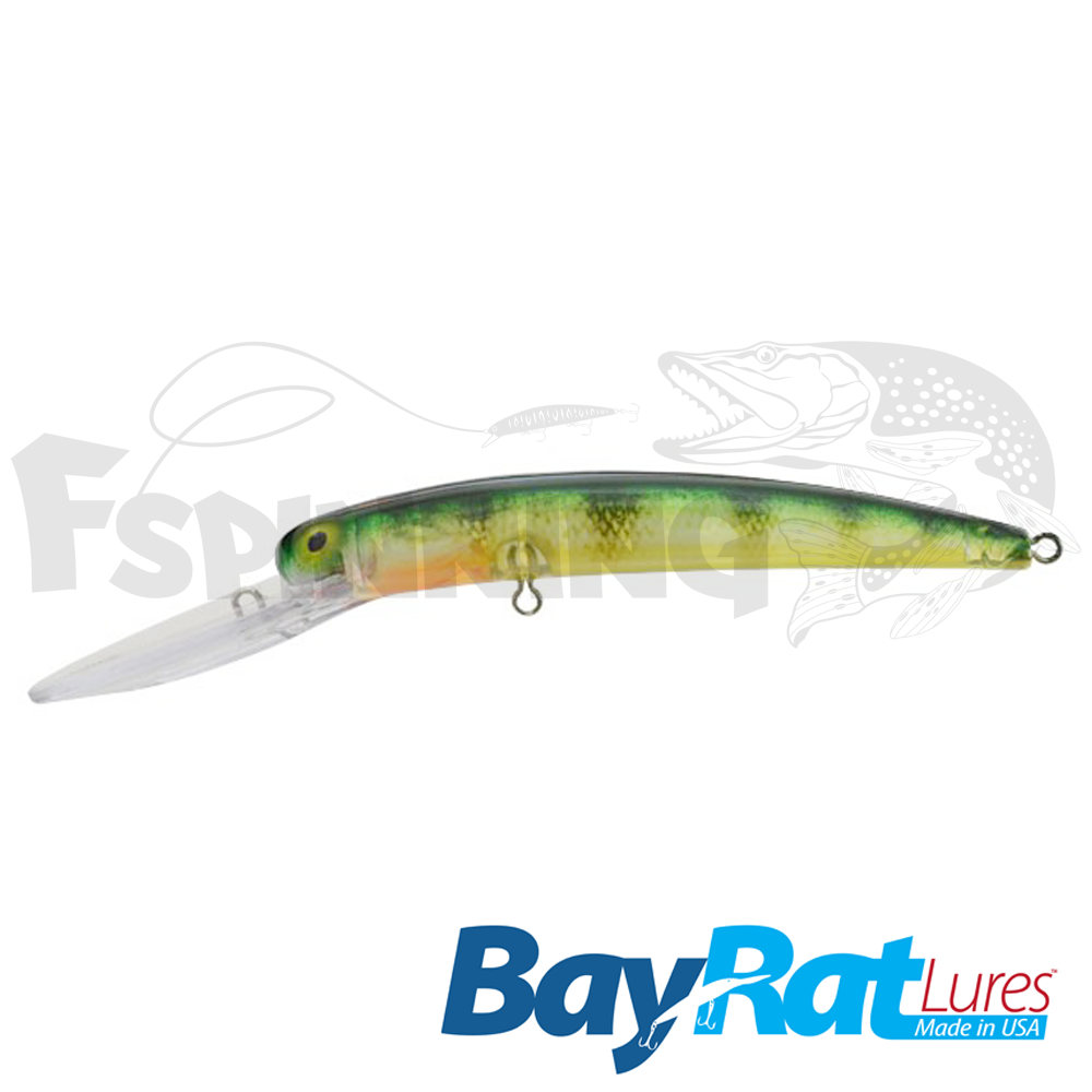 Long Extra Deep 100F Воблер Bay Rat Lures Long Extra Deep 100F 15.8gr #36 perch