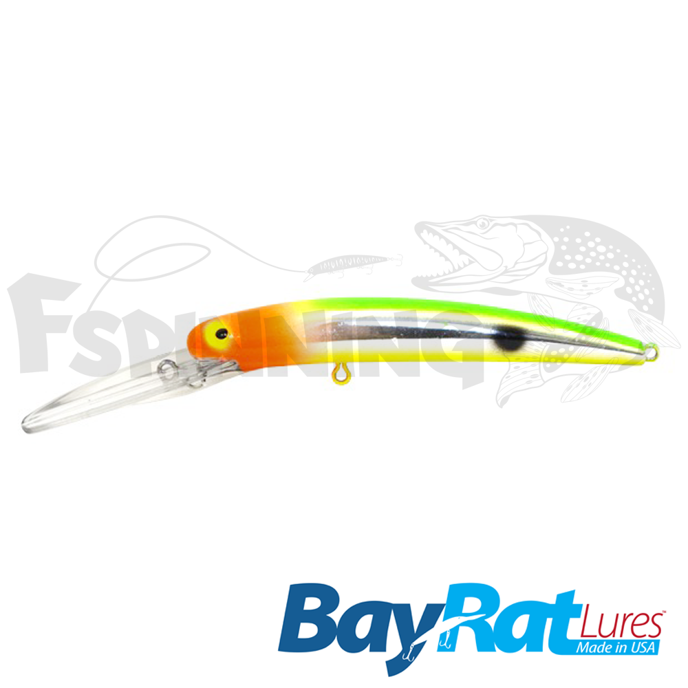 Long Extra Deep 100F Воблер Bay Rat Lures Long Extra Deep 100F 15.8gr #51 veggie chrome