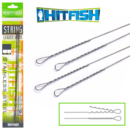Hitfish String Leader Wire d 0.40mm/250mm/16kg (8 шт в уп)