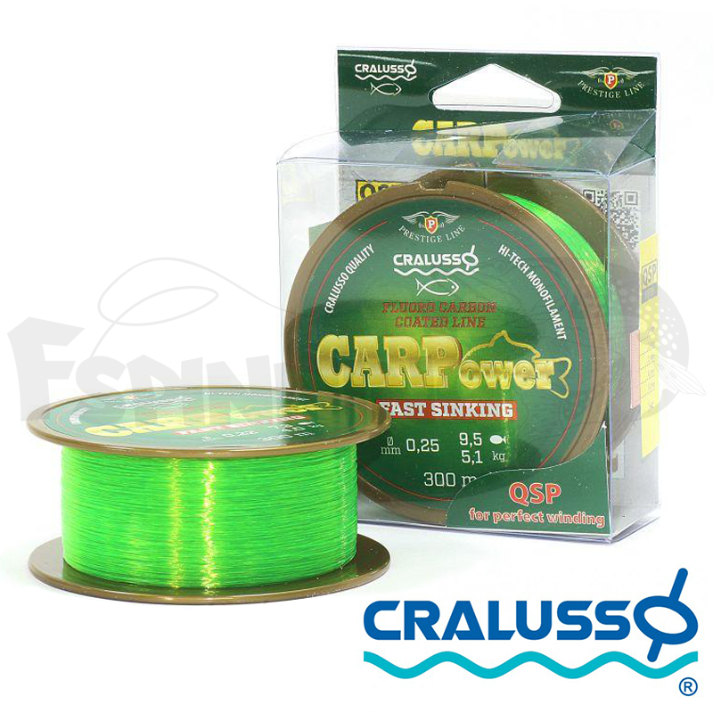 Carp Power Prestige 300m Леска Cralusso Carp Power Prestige 300m 0.25mm/5.1kg/9.5lb (зеленый)