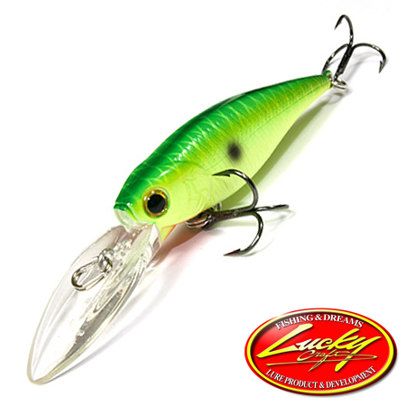 Воблер Lucky Craft Bevy Shad 60DD 5,8gr #111 Peacock