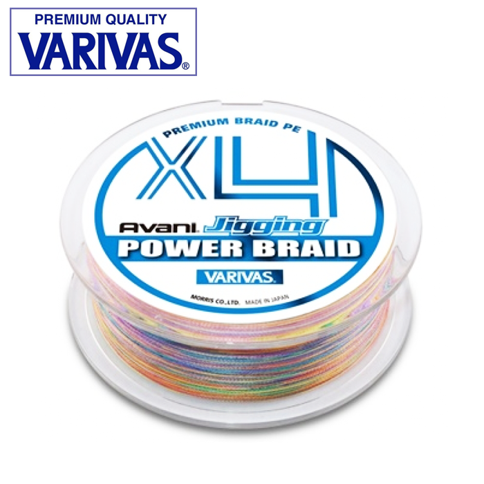 Шнур Varivas Avani Jigging Power Braid X4 PE 200m multicolor #0,8 0,148mm/6,8kg